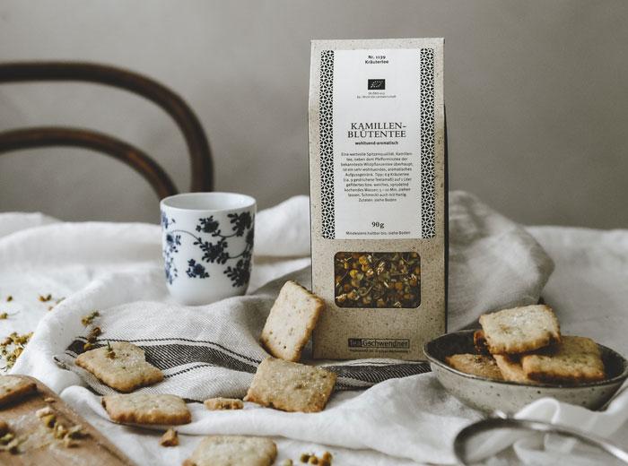 Rezept für Shortbread Cookies mit Kamillentee