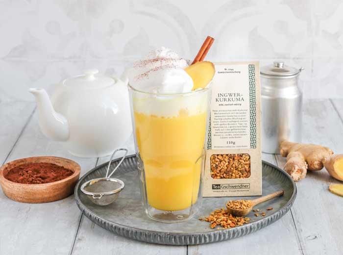 Goldener Ingwer-Chai-Milchshake