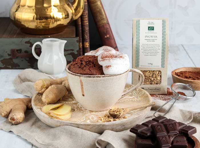 Ingwer-Schoko-Tassenkuchen